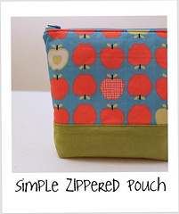 zippered pouch button