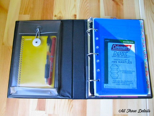 Binder Front Pockets