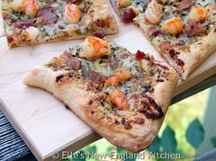 Woodchuck Cider Garlic Shrimp and Bacon Pizza
