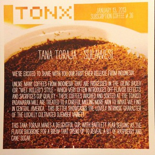 Tana Toraja - Tonx Coffee
