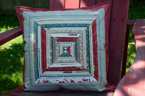 French General Selvage pillow by Poppyprint