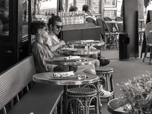 a nice couple Bastille Paris France by Roubinoff