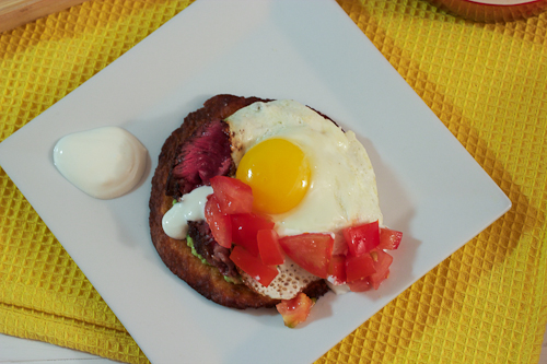 Steak and Egg Tostadas #SundaySupper