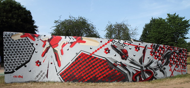Grafitti Wall, Robert's Park. July 2013