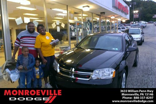 Thank you to Nathaniel Pennybaker  on the Dodge from Eldred Obodai and everyone at Monroeville Dodge! by Monroeville Dodge