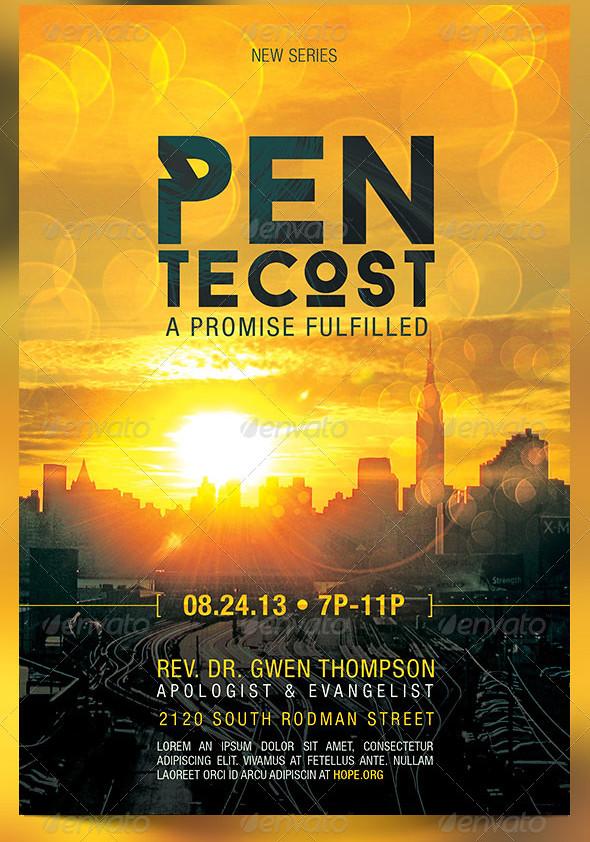 pentecost church flyer template