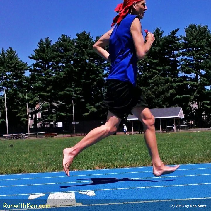 Barefoot run on a cool August day!  Barefoot Running in Lexington, MA. by runwithken
