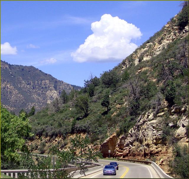 Road into Oak Creek Canyon, AZ 7-30-13l