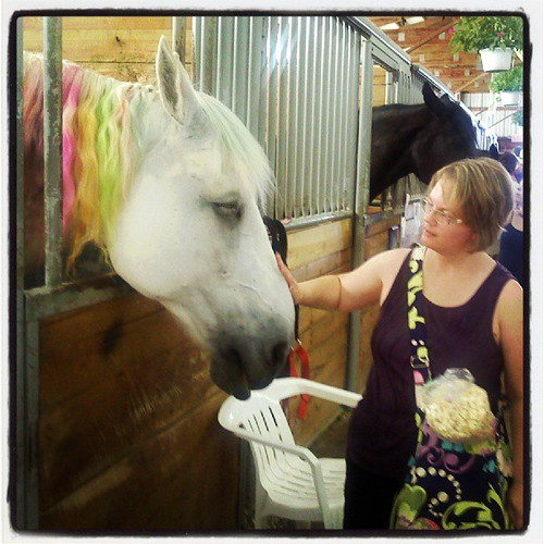 The Wife, with horse. #eriecountyfair #Wife