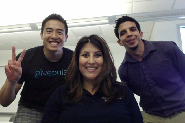 David Galvez and director Yvonne Loya team up with GivePulse co-founder George Luc