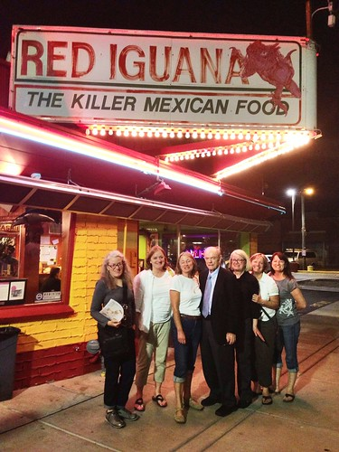 Second pic in front of the Red Iguana
