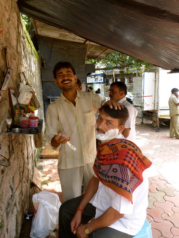 Sion Fort - road side barber