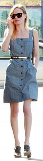Kate Bosworth Denim Dress Celebrity Style Women's Fashion