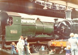 GWR 2-6-0 5322 & 0-6-0PT prob. 3738, GWS Didcot 30.08.1976