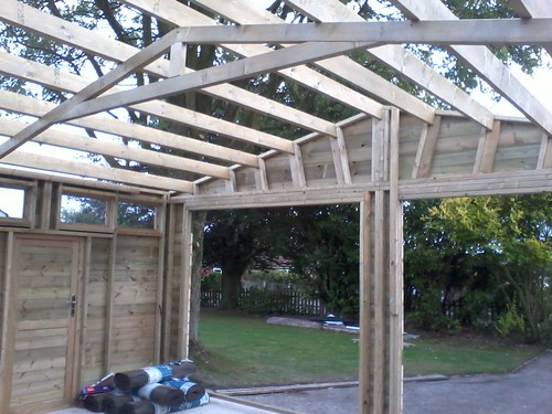 Building Garage Roof Trusses The Late Bay