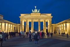 Brandenburger Tor am Abend, Berlin