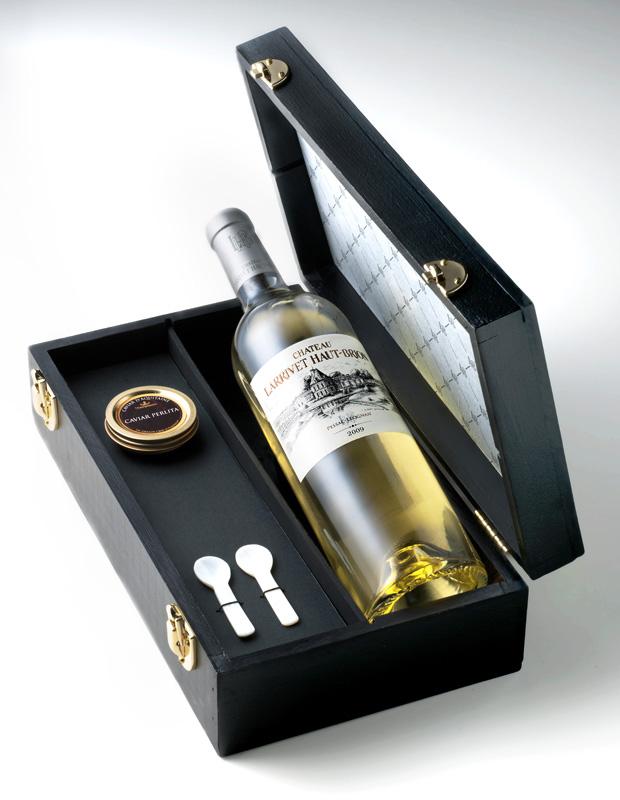 Coffret caviar vin blanc