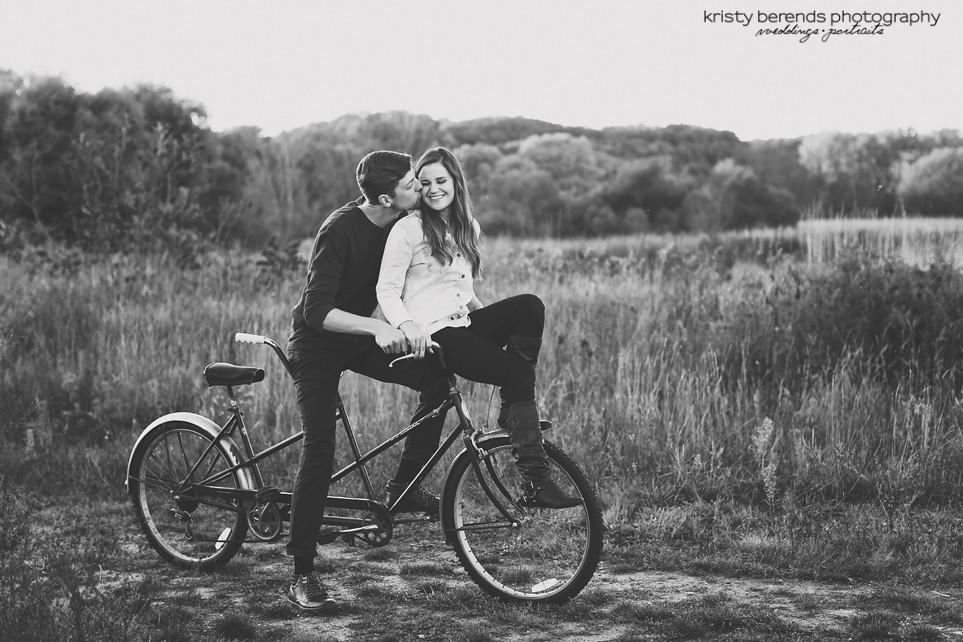 Vintage Tandem Bike Engagement Session