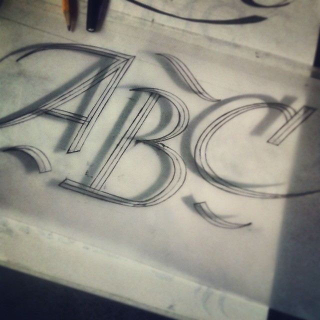 #ABC #A #B #C #scketch #typography #type #lettering