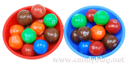 Original Pretzel M&Ms (Left) Pretzel M&Ms - Now with More Pretzel Taste (Right)