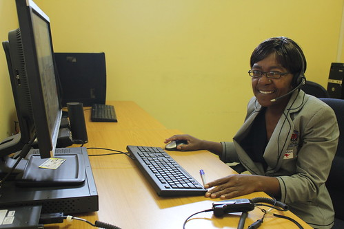Gladys Moyo at the Emergency section of the Bulawayo Call Centre. Zimbabwe 2012. Photo: Phoebe Anderson