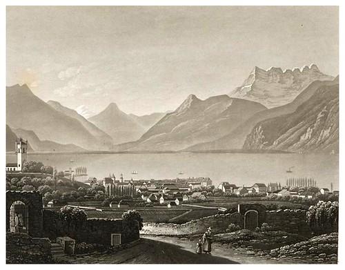 014- Vista de Vervey-Cinquante vues pittoresques de la Suisse… -Vía e-rara