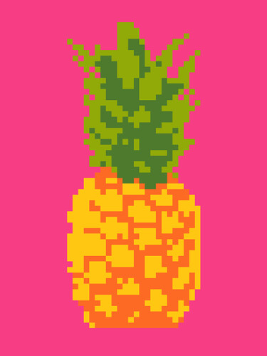 Perfect Pineapple pattern image only