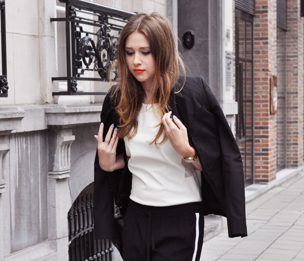 stylelab fashion blog outfit ootd monochrome sports blazer 2b