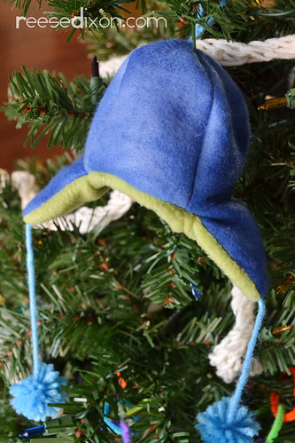 Earflap Hat Ornament Tutorial
