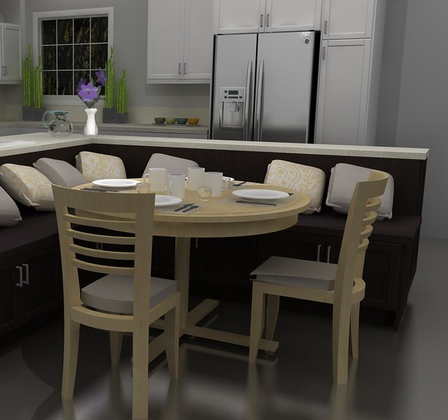 Two Tiered Kitchen Island Pictures
