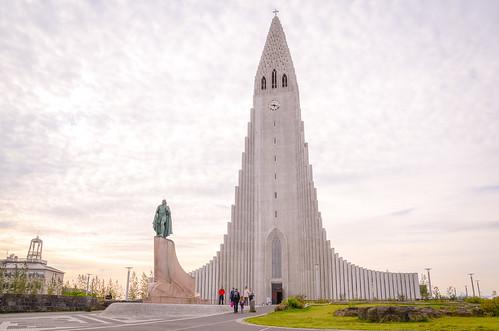 travel summer church sunrise landscape iceland europe cityscape reykjavik hallgrímskirkja