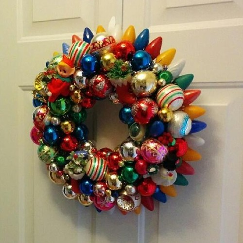The other wreath I made this past holiday season hanging in its new home!
