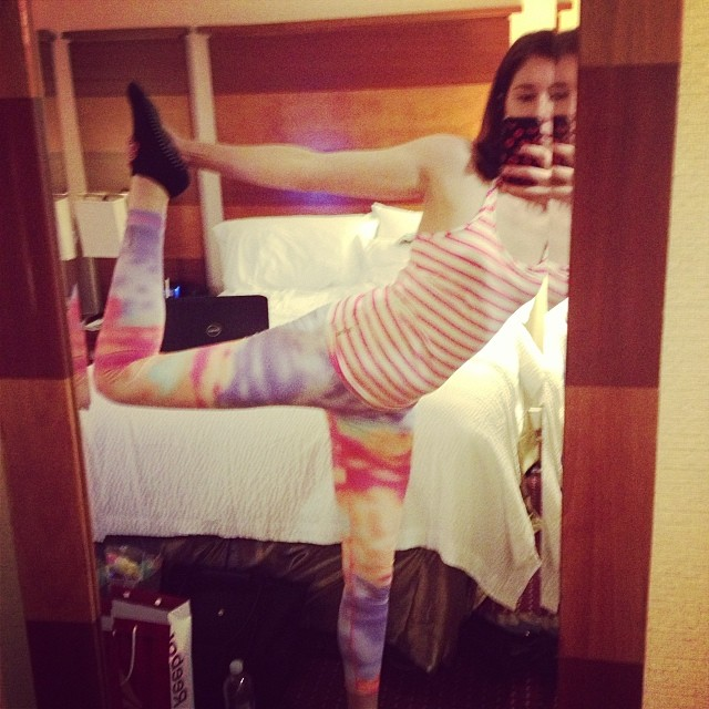 Hotel room #yoga antics #dancerspose