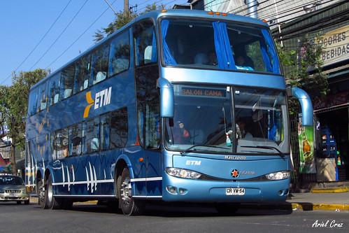 Buses ETM en Santiago | Marcopolo Paradiso 1800 DD - Scania / CRVW54