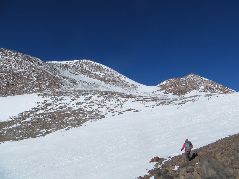 Heading for the main summit of Pissis (6800m)