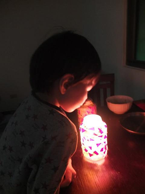 親子手作燈籠