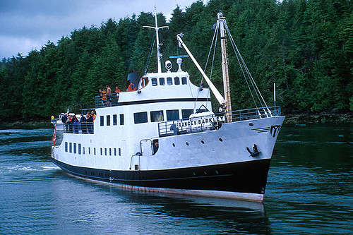 Ferry Frances Barkley in Alberni Inlet, Port Alberni, Alberni Valley, Vancouver Island, British Columbia