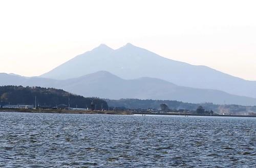 展望台上,遠眺筑波山。