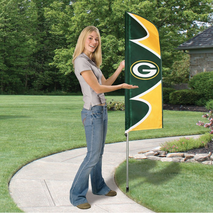 Green Bay Packers Short Feather Flag