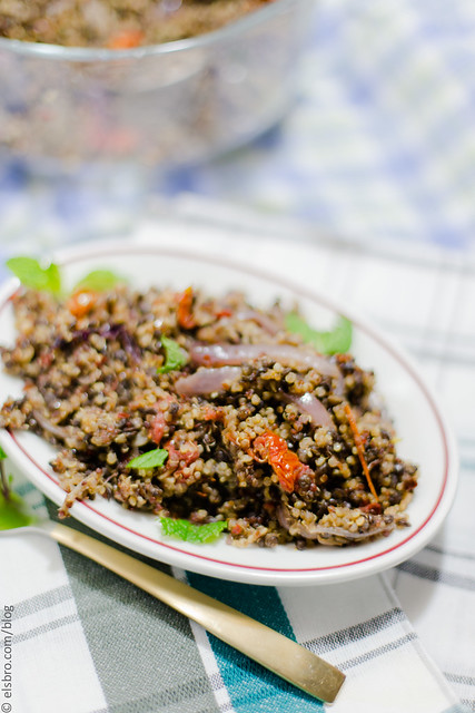Spiced Quinoa and Lentils