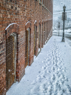 Mill, Sidewalk, and Snow-