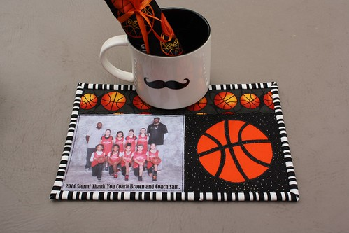 Basketball Mug Rug coach gifts