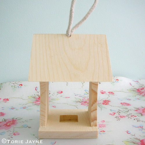 Mini wooden bird house feeder.jpg