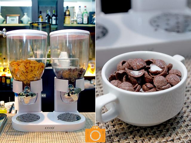 B Hotel breakfast cereals