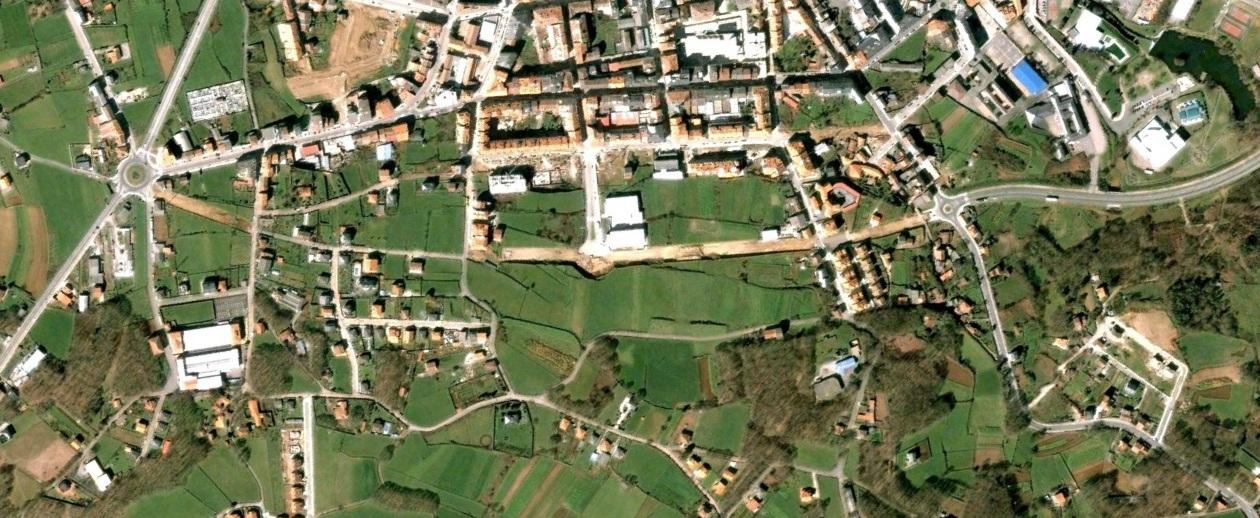 antes, urbanismo, foto aérea, desastre, urbanístico, planeamiento, urbano, construcción,Lalín, Pontevedra