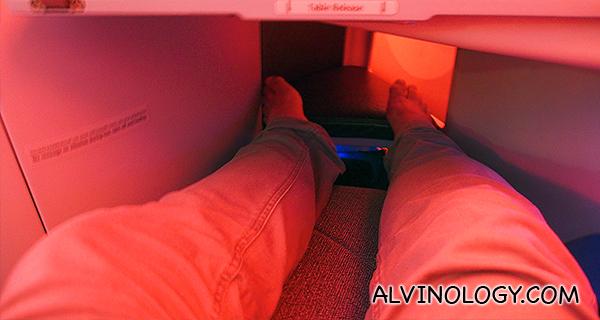So much legs room....