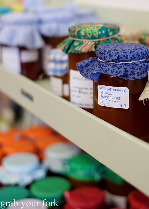 Homemade jams and marmalades at The Good Yarn, Bundanoon