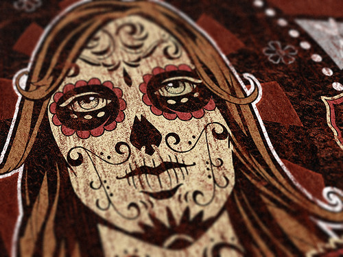 Corporate texture packs vs. Day of the dead artwork - Detail