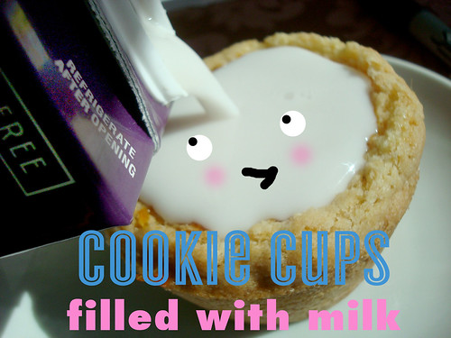 Milk filled cookie shooters