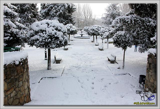 18 Primera nevada en Briviesca 2015